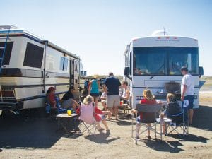 Tailgating at Surprise Stadium, the spring training home for the Kansas City Royals and the Texas Rangers.