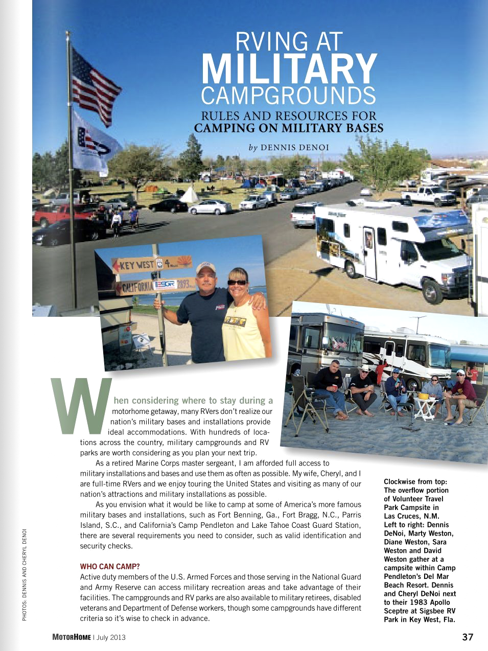 RVing at Military Campgrounds